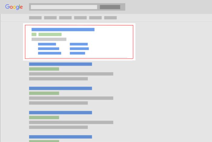 Παράδειγμα για το που εμφανίζονται τα Google Search Ads